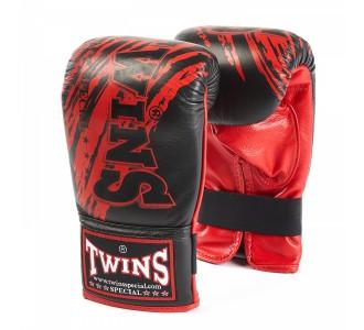 Тренировочные снарядные перчатки Twins Special (TBGL-1F-TW2 black/red)