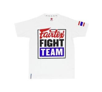 Футболка Fairtex (TST-51 Fairtex Fight Team white/blue)