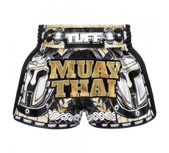 Шорты для тайского бокса TUFF ретро (MRS-202-BLK-S)