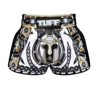 Шорты для тайского бокса TUFF ретро (MRS-202-WHT-S)