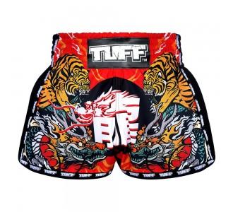 Шорты для тайского бокса TUFF ретро (MRS-204-RED-S)