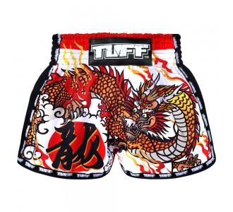 Шорты для тайского бокса TUFF ретро (MRS-204-WHT-S)