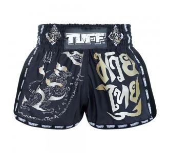 Шорты для тайского бокса TUFF ретро (MRS-206-BLK-S)