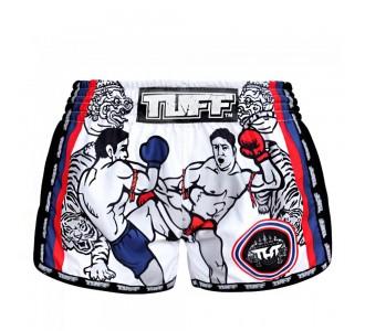 Шорты для тайского бокса TUFF ретро (MRS-103-WHT-S)