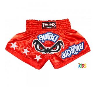 Детские шорты муай тай Twins Special (TBS-02 red)