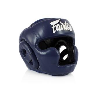 Детский боксерский шлем Fairtex (HGK-15 blue)
