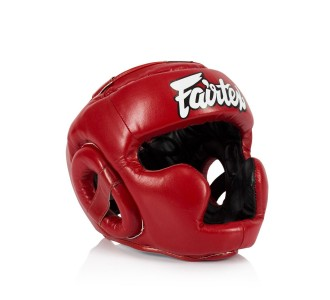 Детский боксерский шлем Fairtex (HGK-15 red)
