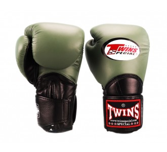 Боксерские перчатки Twins Special (BGVL-11 olive/black)