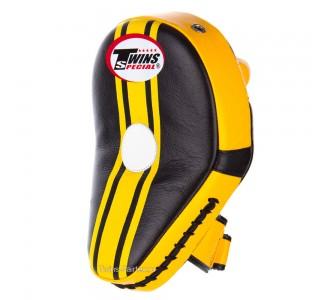 Боксерские лапы Twins Special (KPL-11 black-yellow)