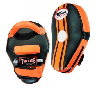 Боксерские лапы Twins Special (KPL-11 black-orange)