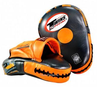 Боксерские ударные лапы Twins Special (PML-10 orange)