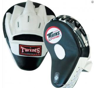 Боксерские ударные лапы Twins Special (PML-10 black-white)