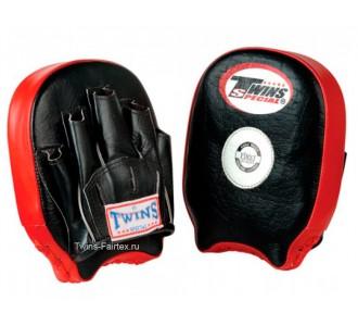 Боксерские ударные лапы Twins Special (PML-11 black-red)