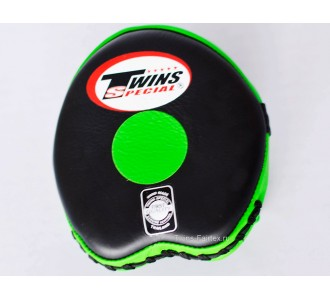 Боксерские ударные лапы Twins Special (PML-13 black-green)