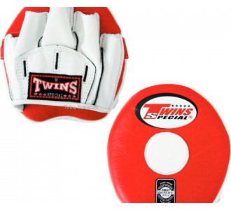 Боксерские ударные лапы Twins Special (PML-13 red-white)