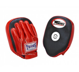 Боксерские ударные лапы Twins Special (PML-2 black-red)