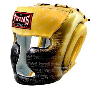 Детский боксерский шлем Twins Special (HGL-3 TW1 black-gold)