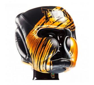 Детский боксерский шлем Twins Special (HGL-3 TW2 black-gold)