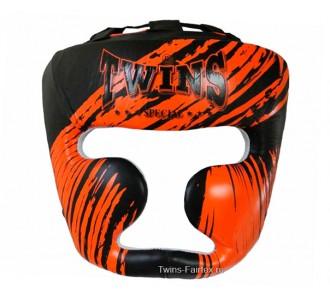 Детский боксерский шлем Twins Special (HGL-3 TW2 black-orange)