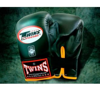 Тренировочные снарядные перчатки Twins Special (TBGL-1F black-yellow)