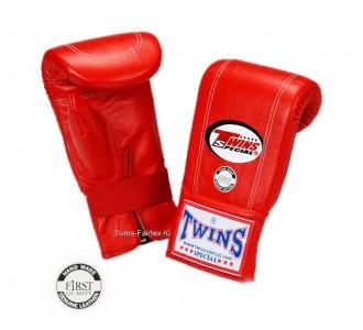 Тренировочные снарядные перчатки Twins Special (TBGL-1F red)