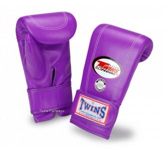 Тренировочные снарядные перчатки Twins Special (TBGL-3F purple)