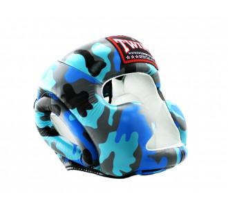 Шлем боксерский Twins Special (FHGL-3 Army blue)