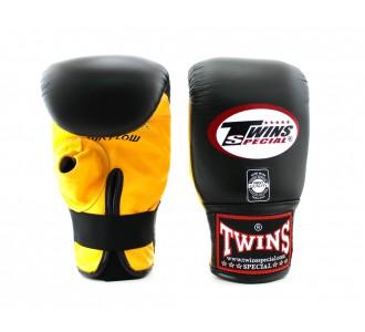 Тренировочные снарядные перчатки Twins Special (TBGL-1H yellow/black)