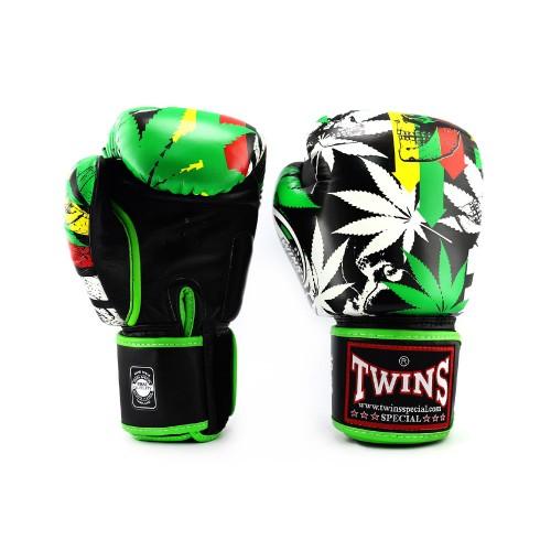 Боксерские перчатки Twins Special с рисунком (FBGV-54 Grass)