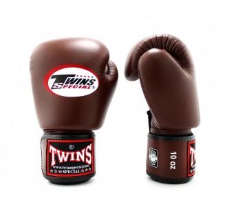 Детские боксерские перчатки Twins Special (BGVL-3 dark brown)