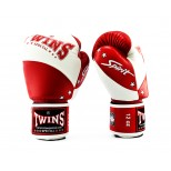 Боксерские перчатки Twins Special (BGVL-10 white/red)