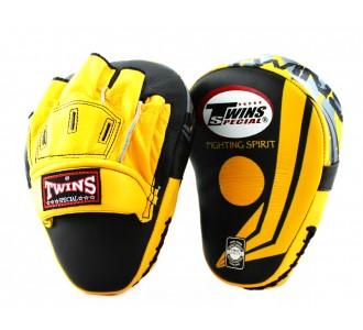 Боксерские ударные лапы Twins Special (FPML-10-43 yellow/black)