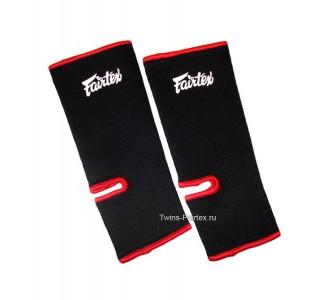 Хлопковая защита голени Fairtex (AS-1 black/red)