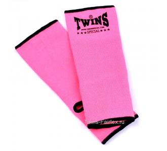 Хлопковая защита голени Twins Special (AG-pink)