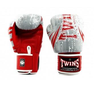 Боксерские перчатки Twins Special с рисунком (FBGV-TW5 red/white)