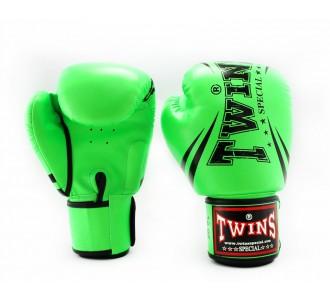 Детские боксерские перчатки Twins Special с рисунком (FBGVS3-TW6 green)