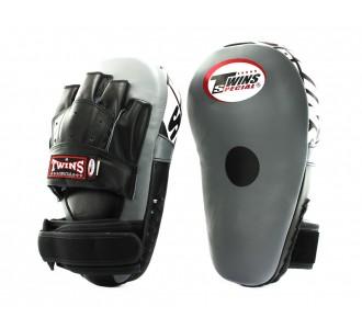 Боксерские ударные лапы Twins Special (PML-19 grey/black)