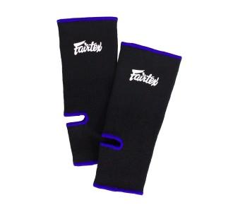Хлопковая защита голени Fairtex (AS-1 black/blue)