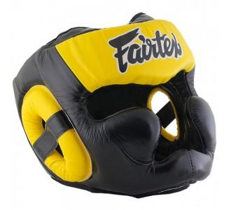 Боксерский шлем Fairtex (HG-13 yellow)