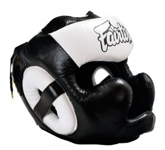 Боксерский шлем Fairtex (HG-13 white)