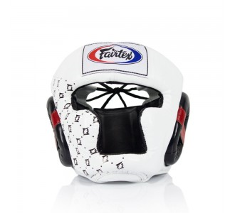 Боксерский шлем Fairtex (HG-10 white)