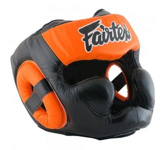 Боксерский шлем Fairtex (HG-13 orange)