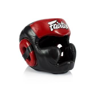 Боксерский шлем Fairtex (HG-13FH red) Full Head