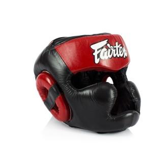 Боксерский шлем Fairtex (HG-13 red)
