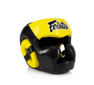 Боксерский шлем Fairtex (HG-13FH yellow) Full Head