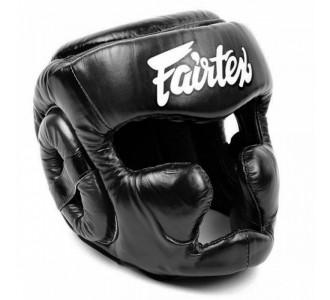 Боксерский шлем Fairtex (HG-13 black)