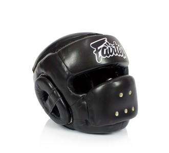 Боксерский шлем Fairtex (HG-14 black)