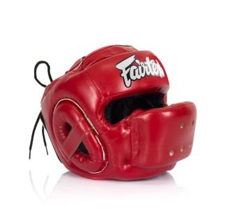 Боксерский шлем Fairtex (HG-14 red)
