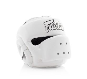 Боксерский шлем Fairtex (HG-14 white)