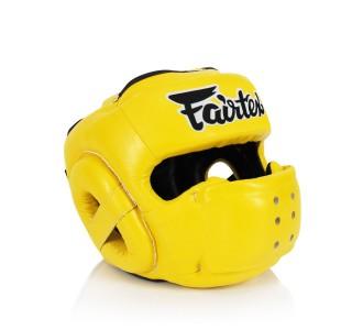 Боксерский шлем Fairtex (HG-14 yellow)